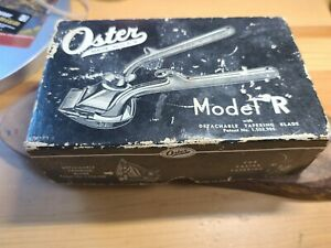 VINTAGE JOHN OSTER HAIR CLIPPERS MODEL R WITH ORIGINAL BOX working condition
