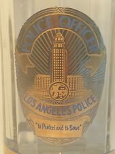 LAPD Los Angeles Police Glass Badge Mug To Protect And Serve