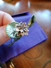 Silver Lotus Flower Pin
