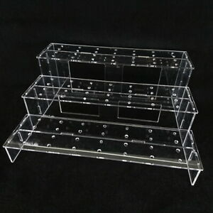 BL-3MZD: Clear Acrylic 3 Tier Display Shelf (for Mezco One:12 stands)