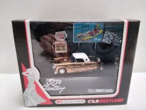 new BEETLAND 50s Fantasy made in JAPAN 1/60 FORD THUNDERBIRD DIORAMA boxed new