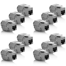 deleyCon 12x Cat 6a Keystone Jack Modul Rj45 STP werkzeuglos Netzwerk Adapter