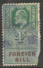King Edward VII - 4s Green - Foreign Bill - Used