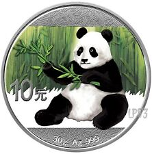 2017 30 Grams SILVER COLORIZED PANDA Coin WITH Blister And Coa.