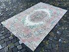 Vintage rug, Turkish, Handmade rug, Area rug, Wool rug, Bohemian | 4,5 x 7,0 ft