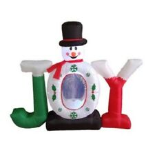 Christmas Inflatables Joy Snowman Snow Globe Patway Outdoor Holiday Decoration