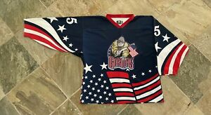 Vintage Amarillo Gorillas David Silverstone Game Worn Army Night Hockey Jersey,