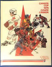 1976 Team Canada Cup Hockey USSR Finland  USA  Program mint !