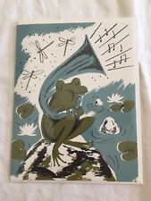 Frog And Horn All Occasional Card Musician Gift Love Song Life Music John Frith