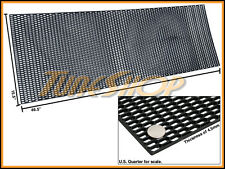 """PLASTIC ABS UNIVERSAL BLACK SPORT MESH GRILL GRILLE CAR STOCK OE STYLE 15""""X46"""" D"""