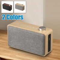 LOT Wooden Wireless Bluetooth Speaker Super Bass Stereo Subwoofer SD FM AUX