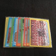 1973/74 TOPPS HOCKEY ATLANTA FLAMES TEAM SET 11 CARDS  VERY NICE  NM