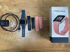 New listing Fitbit Versa Fitness Smartwatch - Peach/Rose-Gold Aluminium (FB504RGPK)