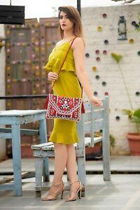 Handmade Clutch Bag Vintage Style Banjara Boho Bag Ethnic Wear Bag Ibiza Clutch