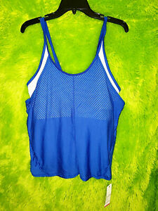 Womens Lucky In Love Vaportex Athletic Tennis Tank Top New Semi-Fitted XL