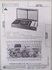 Sams Photofact Folder Radio Parts Manual Bradford 60301 Stereo Record Changer
