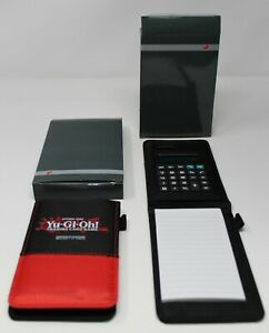 Yugioh Life Pad/Note Book W/ Calculator in protective case Shonen Jump Lot of 2