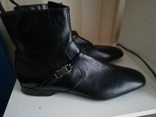 Prada Black Leather Men's Boots cm. 28.5 tg. 43 slim
