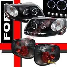 01 02 03 Ford F150 Pickup SVT Supercrew Halo Projector Headlights + Tail Lights