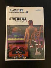 "Atari St Statistics Volume 1 - 2 x 3.5"" Floppy Disks Tested And Working"