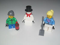 1 x LEGO 39140 Minifigure Tête Bonhomme de Neige Head Snowman Carrot Nose NEW