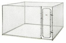 Pet Safe Box Kennel Dogs Fence Galvanized steel Cage Outdoor Yard, 10 x 10 x 6