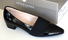 Peter Kaiser Womens Lagos Closed Toe Low Heel, Black Patent Leather UK Size 2.5