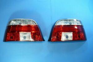 Red/White Clear Glass Rear Lights Suitable For BMW 5er E39 Saloon Year 95 - 2000