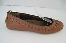 COLE HAAN G Series Brown Leather Driving Loafer Stitched Design Size 6 1/2 B