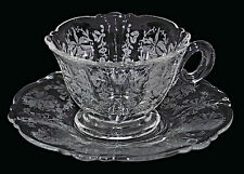 Heisey Orchid #1509 Queen Ann Cup and Saucer Set