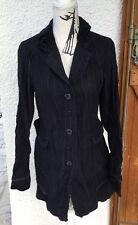 """👒SUBLIME veste Redingote """"M&F GIRBAUD"""" ,finement Rayée ,taille L,comme Neuve👒"""