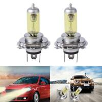 2PCS H4 Pure Yellow Car Xenon Headlight Bulbs Fog Light Blub Lamp Tool Gift