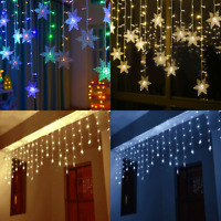 3.5M 96 LED Curtain Fairy Lights String Hanging Wall Lights Party Lamp Decor