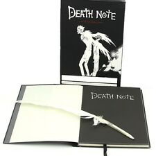 New Death Note Death Note L Cosplay Notebook & Feather Pen Book Writing Journal