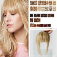 Fringe Stranded 100% Human Hair Clipped Fringe With Bangs Natural Hairpiece New