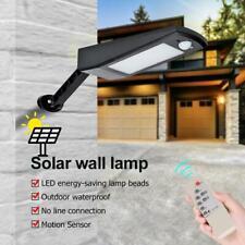 48LED Solar Motion Sensor Wall Light Remote Control Outdoor Garden Street Lamp