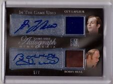 GUY LAFLEUR BOBBY HULL /16 Leaf In The Game Used Auto Autograph Jersey Patch #/7