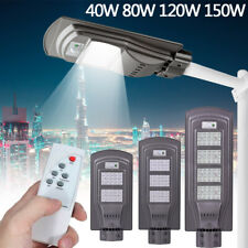 150W Dusk to Dawn Solar Street Lights IP67 320Led For Parking Lot Yard Path Shed