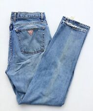 Vtg Guess Jeans USA Original Fit 050 Narrow Women 31 X 29 Distressed Stone Wash