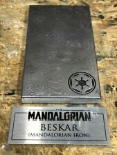 Star Wars Mandalorian Beskar Prop With Display Plaque