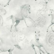 CAMARILLO HORSES WALLPAPER - GREY WHITE - ARTHOUSE 667300