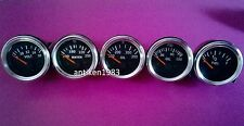 El Gauges 52mm (5pc) - Volt +Water Temp+ Oil Temp +Oil Press 150 psi+ Fuel Gauge