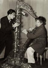 Salvador Dali UNSIGNED photograph - L1975 - Sketching Harpo Marx, 1937