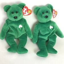 Two Old Face Erin Beanie Bears with Matching Errors / Specialties /No Stamp