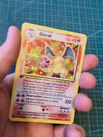 Handmade Proxy Glurak / Charizard in Deutsch Fanart Pokemon Card In Holo