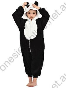 Kids Panda Onsie Kigurumi playsuit pajama