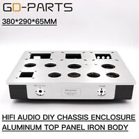 Amplifier Chassis Enclosure Hifi Audio DIY Vintage 2A3 300B KT88 Tube AMP Casex1
