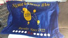 Sigma Gamma Rho Velour Blanket-Royal