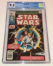 STAR WARS #1 ~ Original 1st printing 1977 Marvel Comics ~ CGC 9.2 white pages!