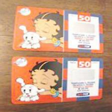 2 ricarica TIM Betty Boop validità 12 2002 06 2003 lire